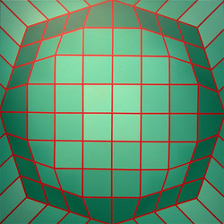 Mac Entyre, Cristian. Homenaje a VasarelY. Acrylic on canvas.39 x 39 in$7.500