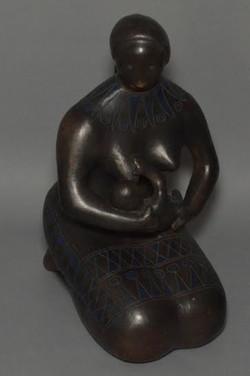 Felguerez Manuel. Campesina.Sculpture. Patinated Ceramic.$2,000
