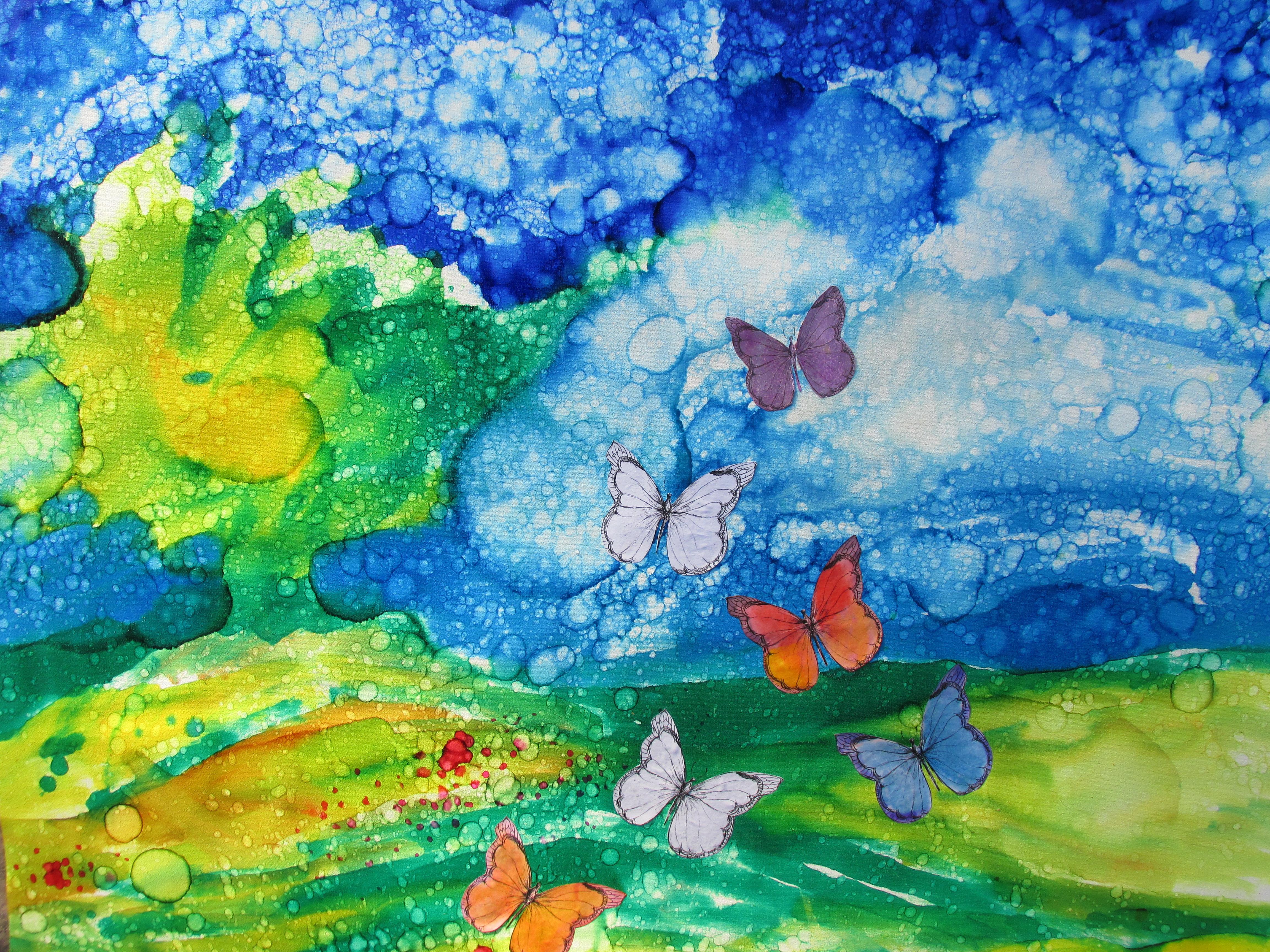 Ruiz Rosana. Primavera. Mixed media on canvas
