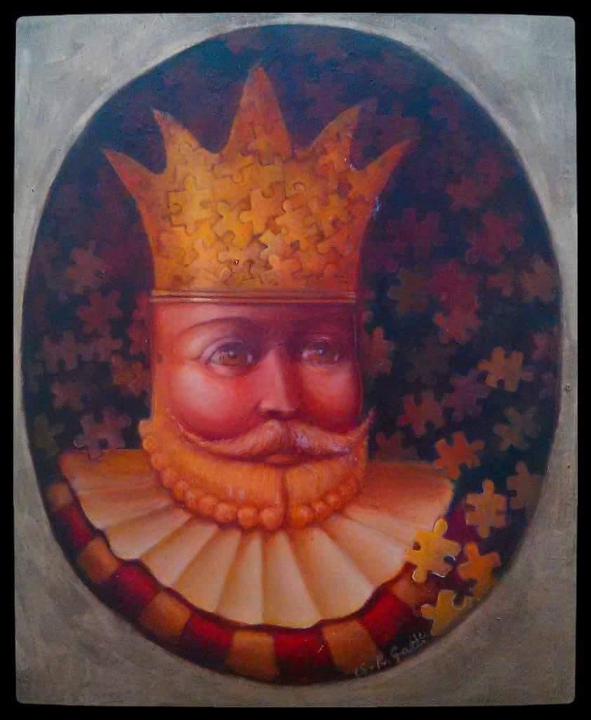 Gatti, Roberto. Rey de Puzzles. Oil on canvas. $1,500