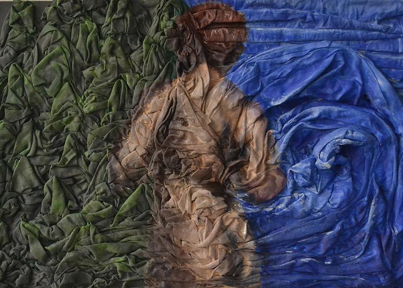 Montemurro Carina. Bella Desnuda. Mixed Media on wood panel