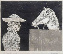Berni, Antonio. El picador y su caballo.