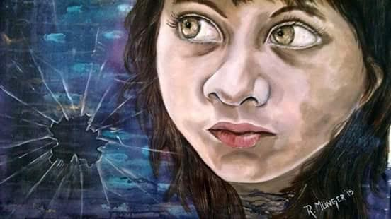 Munger Rossana. Derecho a la proteccion . Acrylic on canvas