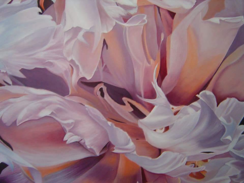 Carbonell Monica. Sinfonia de petalos. Oil on canvas