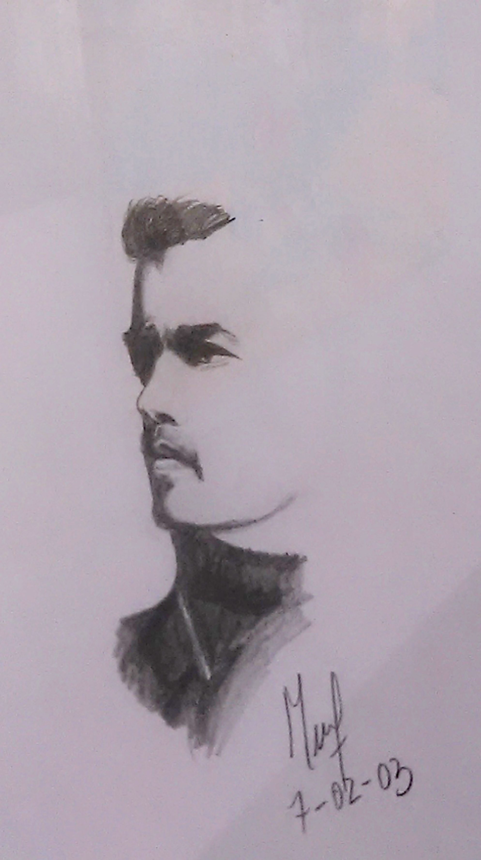 Soler Roberta. George Michael. Graphite on paper
