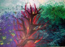 Moscoso Marisa Fuego sobre el agua Acrylic on canvas