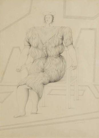 Aizenberg, Roberto.Untitled. pencil on paper. 18 3/8 x 13 3/8in.