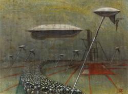Menendez Juan Manuel.La Red. Oil on canvas. 22 x 30 inches $4,500.-