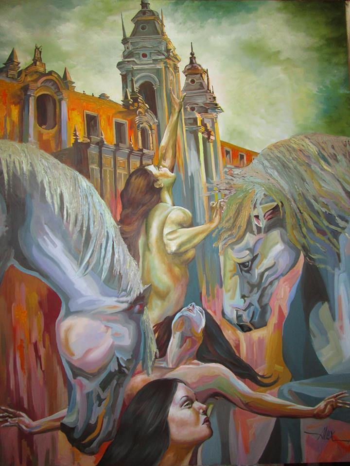 Benites, Alejandro. Oil on canvas