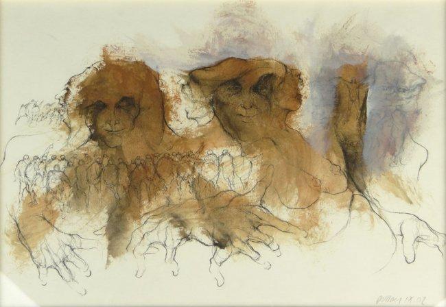 Dussan Rafael.Espacio Habitado.Mixed media on paper.11,5 x 15,5 in.$1,800.
