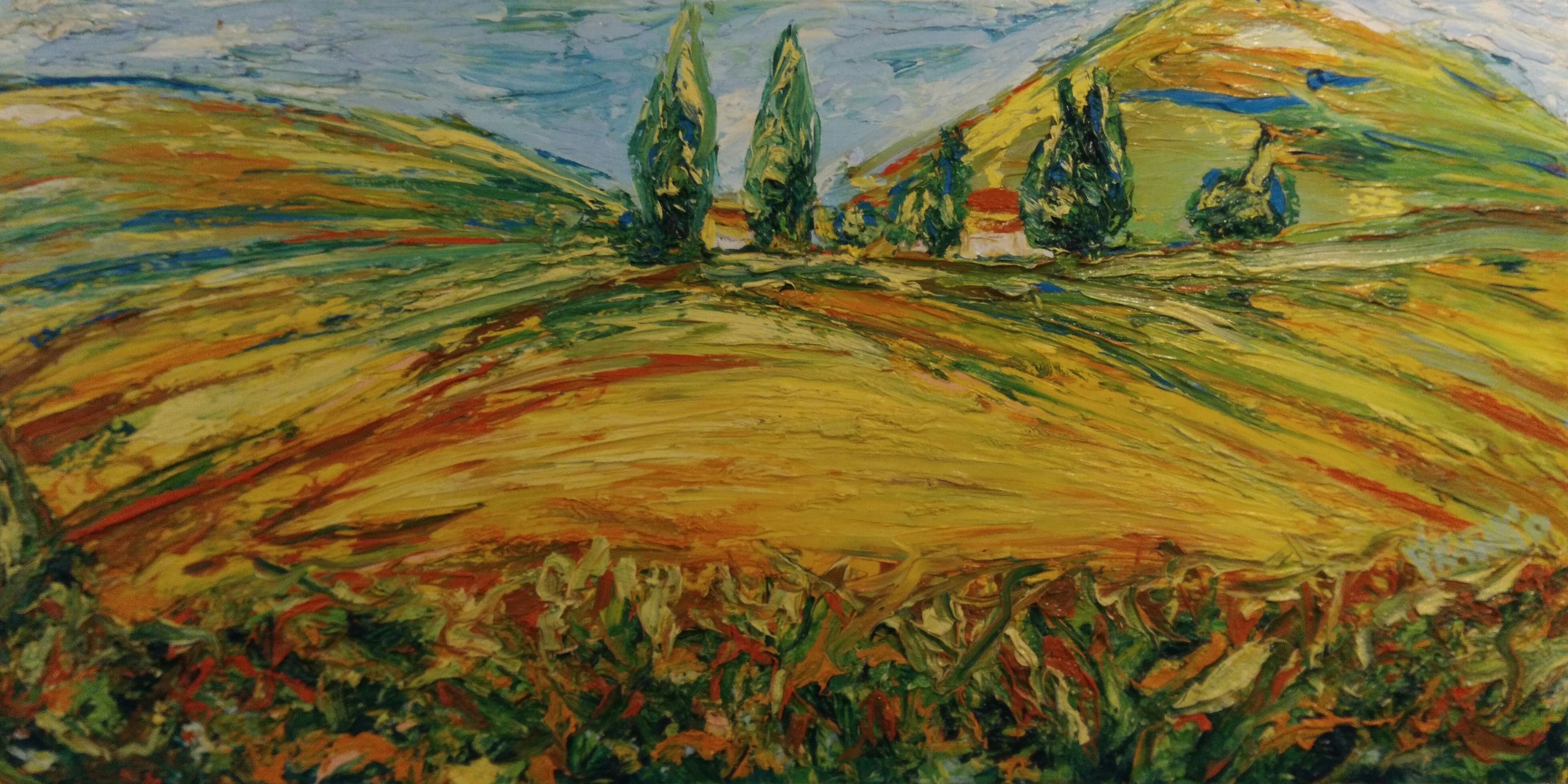 Toscana I olio su tela  40x80cm 2014