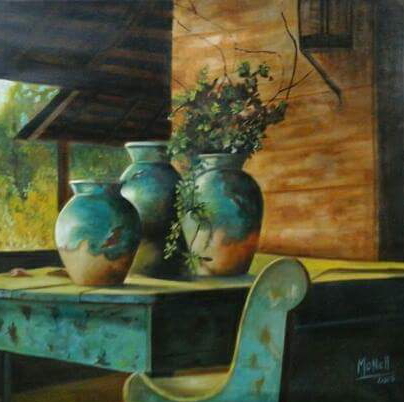 Carbonell Monica. En la Galeria. Oil on canvas