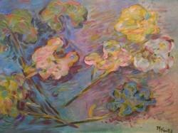 Como rosas - Oil on paper