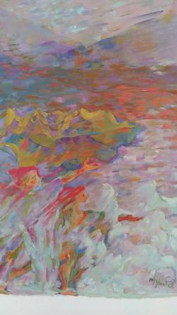 A traves del desierto - Oil on paper