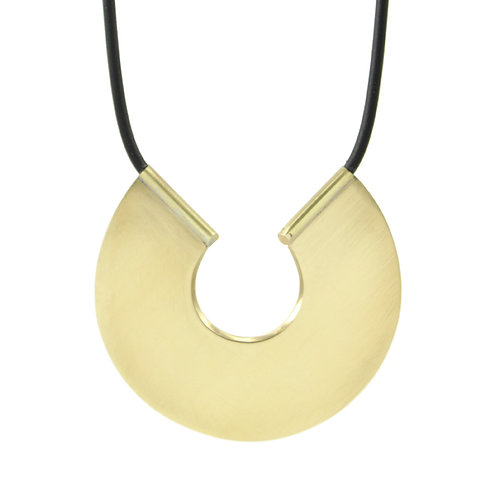 Raw Brass Plate Necklace
