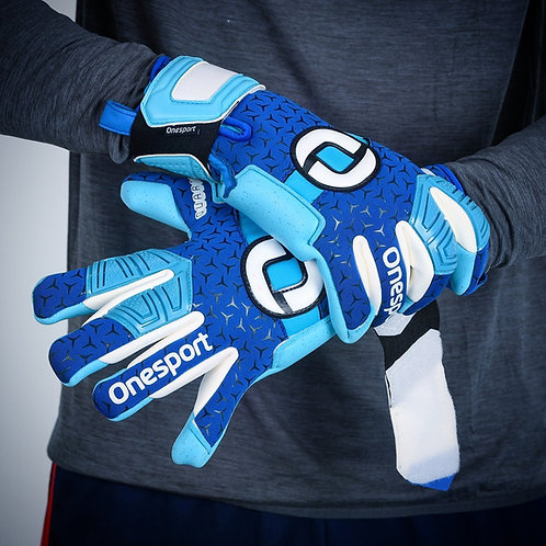 ONESPORT CANCERBERO NEGATIVE HYBRID GOALKEEPER GLOVES ROYAL / SKY