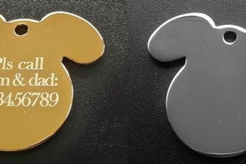 Plated Dog (Gold or Silver)