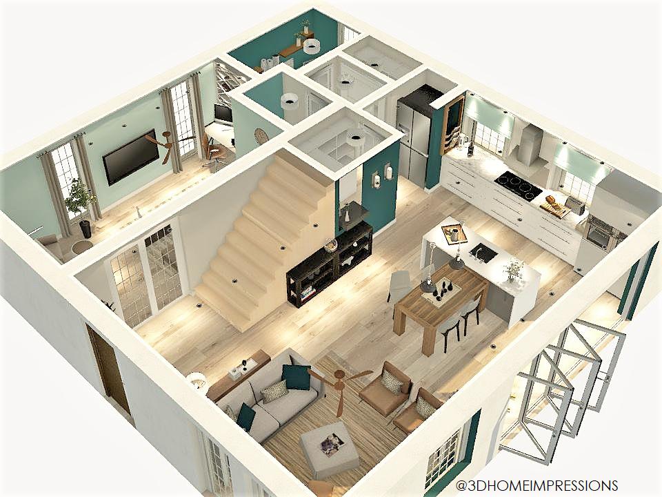 3D view of revised floorplan (PREMIUM)