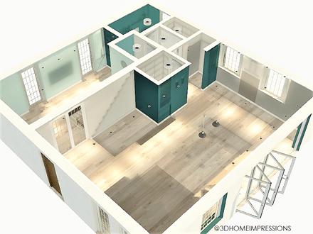 3D view of revised floorplan (STANDARD)