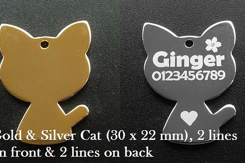 Plated Cat (Gold or Silver)