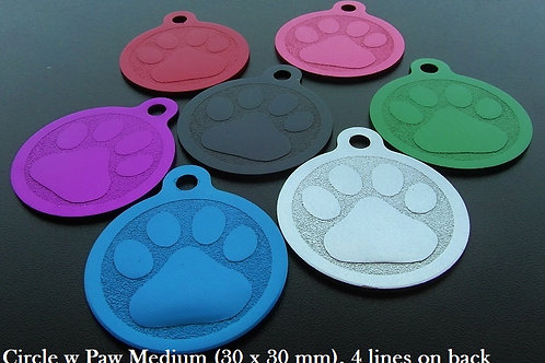 Aluminium Circle with Paw print