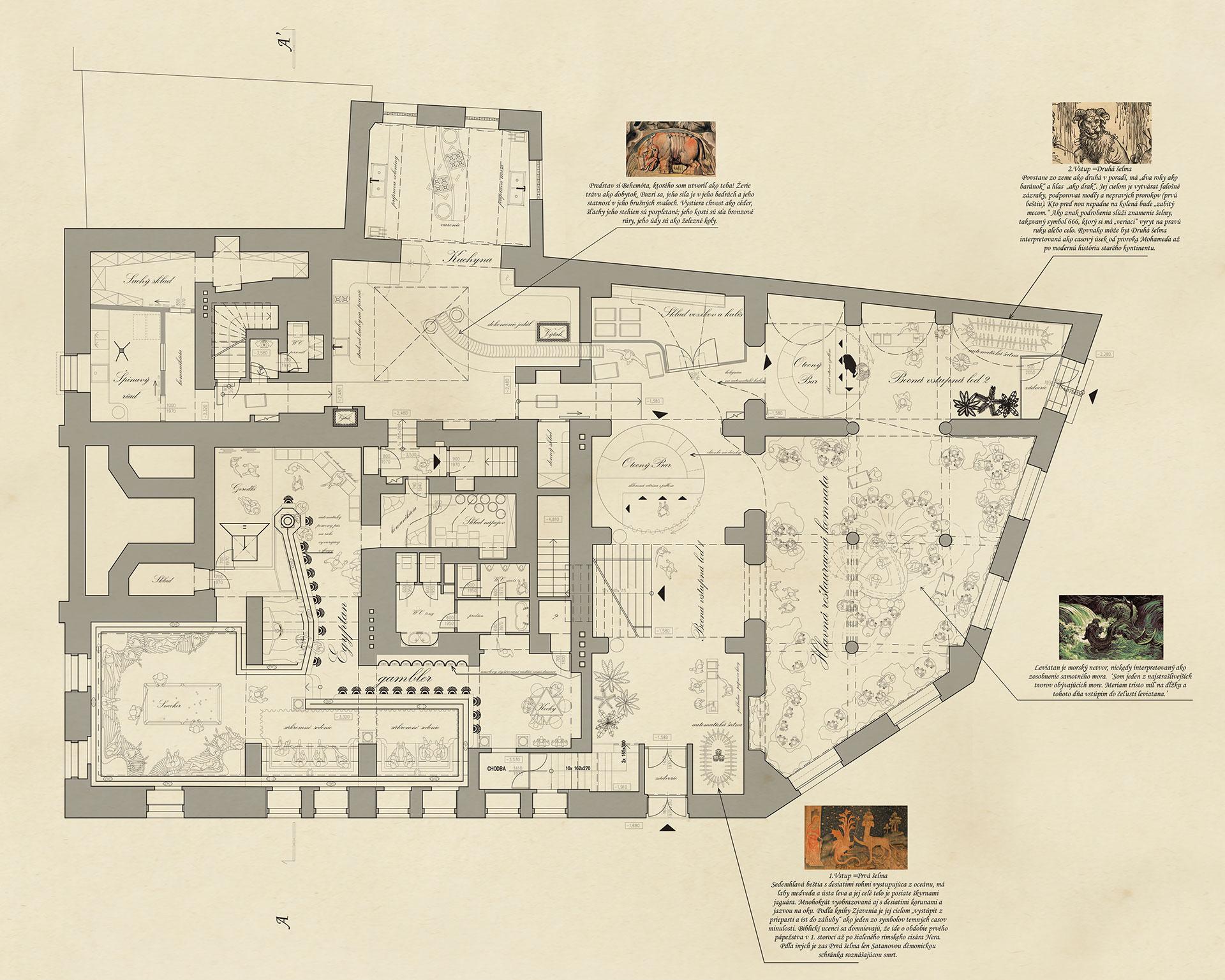 1. underground and ground floor plan