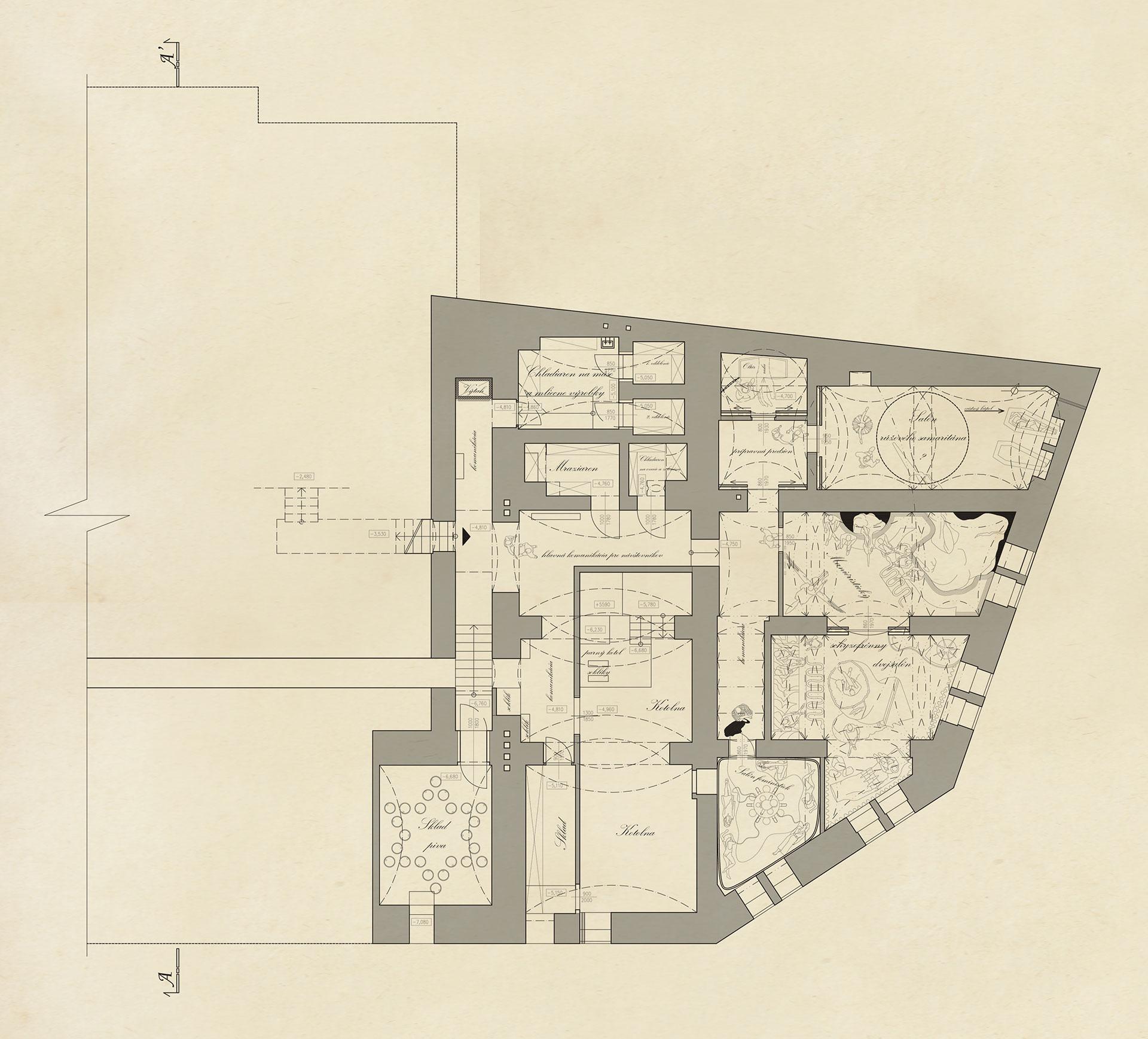 2. underground floor plan