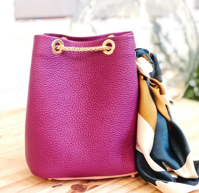 sac seau violet