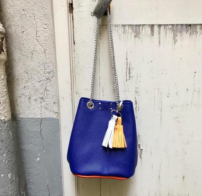sac seau diy bleu roi