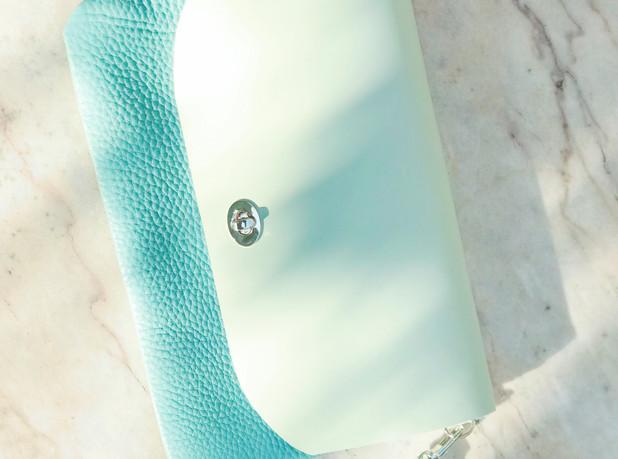 Turquoise pochette DIY