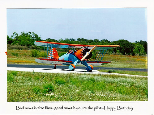 Bad news is time flies...good news is you are the pilot. Happy Birthday!