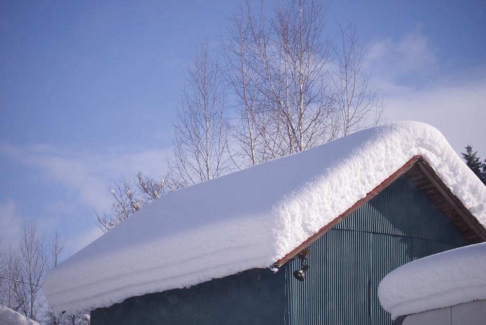 雪が止み晴れ間も・・