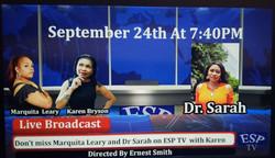 Live Broadcast Dr. Sarah