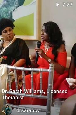 Dr. Sarah Speaking
