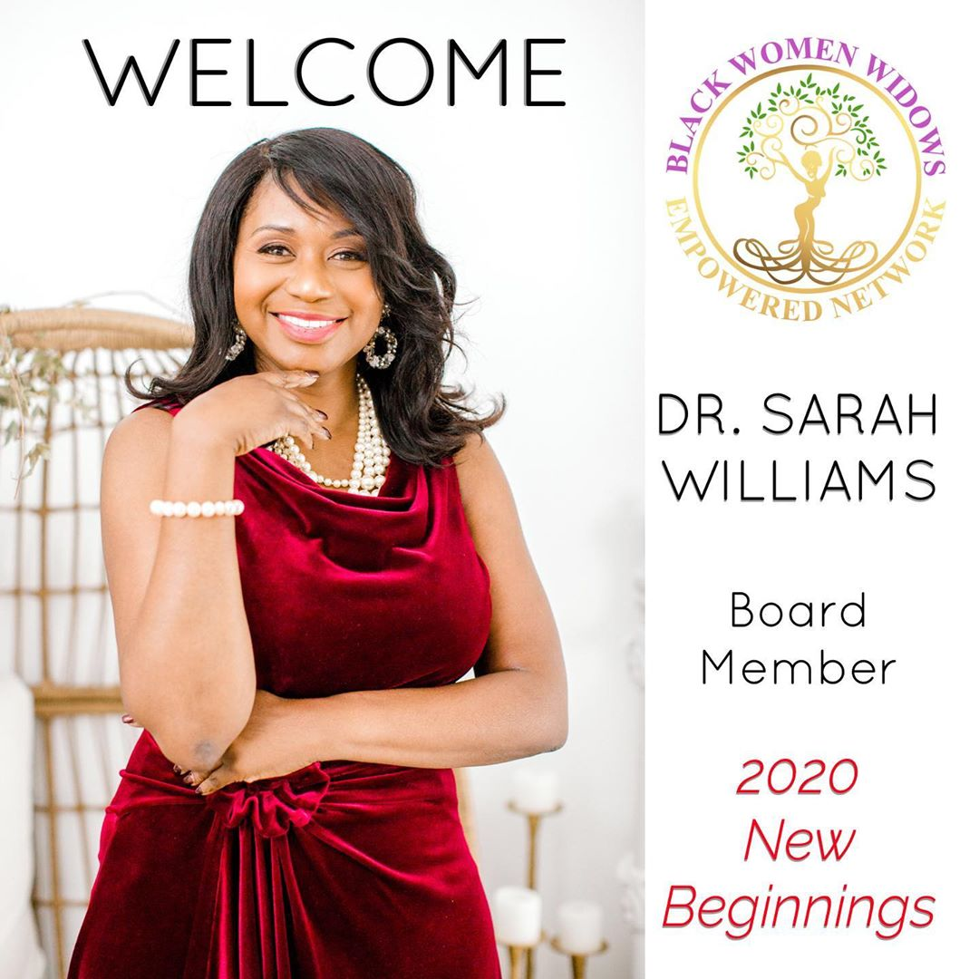 Dr. Sarah Board Member of Black Women Widows Empowered Network
