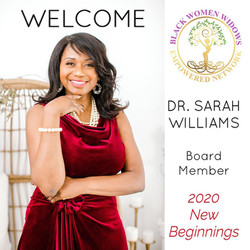 Dr. Sarah Board Member of Black Women Widows Empowered Network