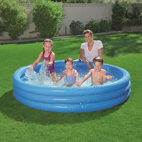 حوض السباحة للأطفال قابل للنفخ بـ3 حجرات هوائية للانتعاش ومرح في أجواء الصيف الح