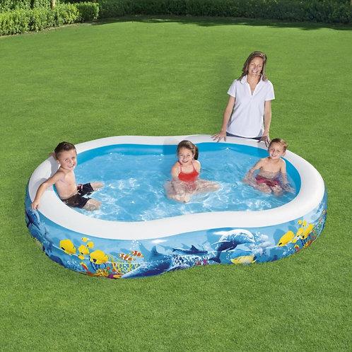 حوض السباحة للأطفال قابل للنفخ بتصميم محبب للبنات والذكور للانتعاش والمرح في أجو