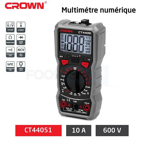 مقياس الرقمي أصلي من كراون متعدد الوظائف لقياس التيار الكهربائي بدقة عالية CROWN
