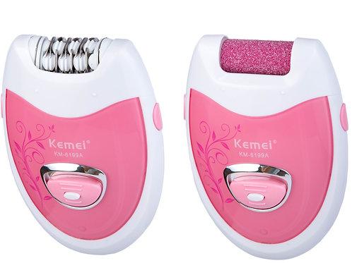 آلة لنزع الشعر KM-6199A Kemei Dame Faciale Électrique Dame Rasoir/Épilateur