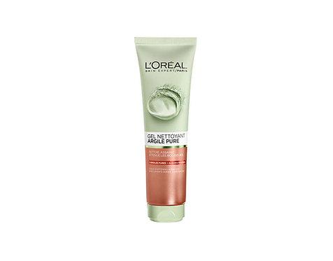 جل التقشير من لوريال باريس L'Oréal Paris Gel Exfoliant Visage Argile Pure 150 ml