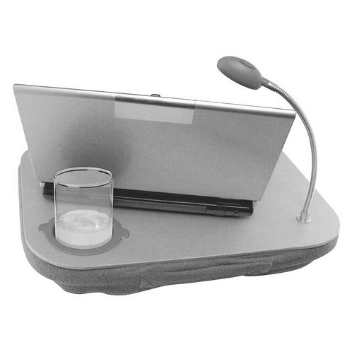 حاملة حواسيب بإضاءة LED مدمجة وحامل أكواب مثالي في المنزل والمكتب أو حتى السفر L