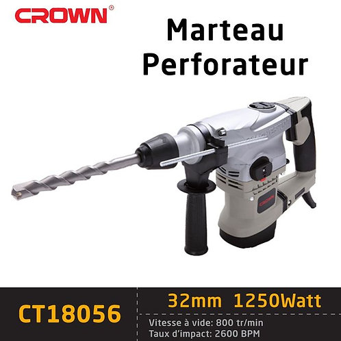 Marteau Perforateur Crown 32Mm Sds+ 1250W -Ct18056