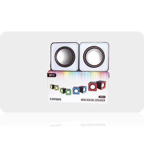 Capsys Haut Parleur USB- SP210 Carré -blanc