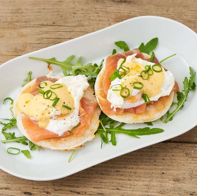 Eggs Royal with Salmon