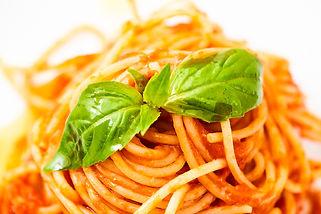 Spaghetti tomatoes basil, lunch italian food finsbury park london