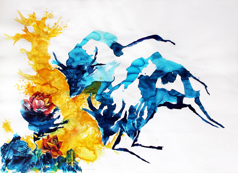 Cityscape-2 (bulls)