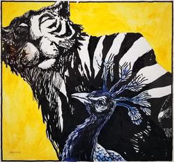 The tiger and the peacock-2