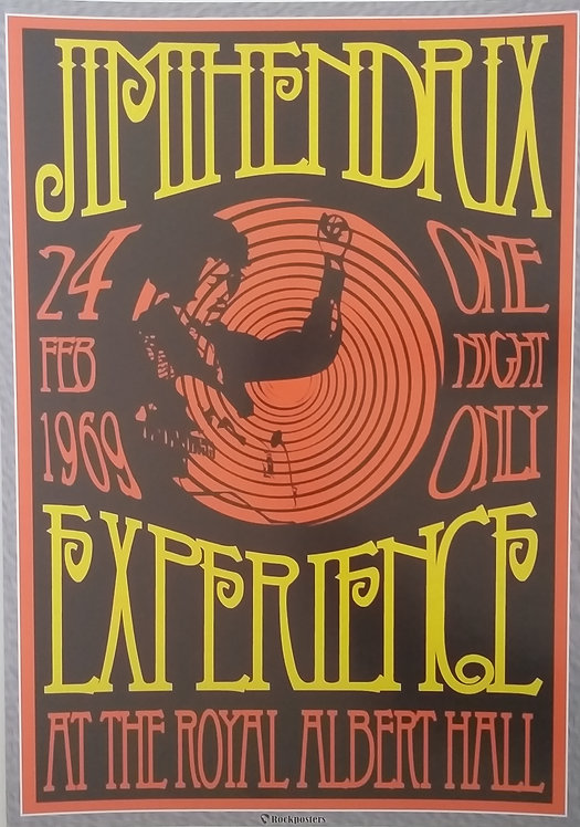 Poster The Jimi Hendrix Experience at the Royal Albert Hall