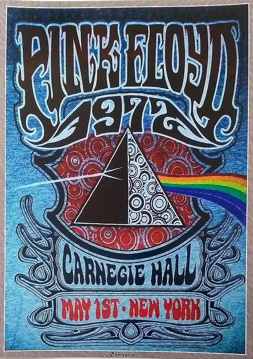 Poster Pink Floyd at the Carnegie Hall